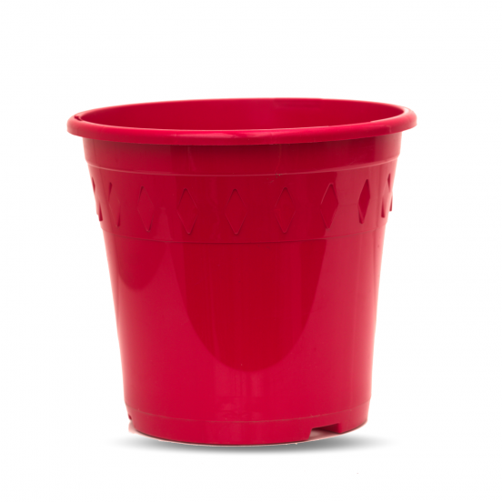 Pot de culture - rouge - 4 litres